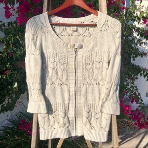 Dkny Cardigan Zipper Front Sweater.